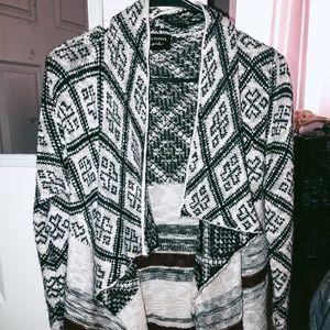 stylish patterned sweater